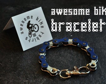 Bicycle Chain Bracelet Great Gift for Any Cyclist or Bike Rider or Punk Industrial Key ring or Keychain