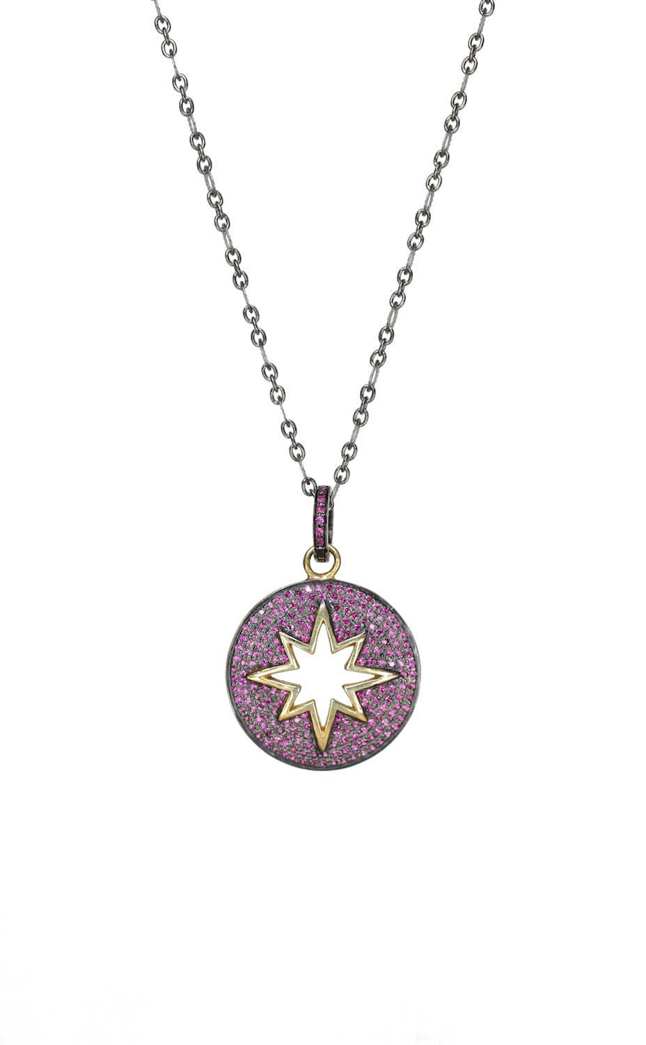 Pave ruby star medallion necklace genuine ruby star pendant oxidized pave ruby star medallion necklace genuine ruby star pendant oxidized sterling silver detachable pendant adjustable length mixed metals mozeypictures Gallery