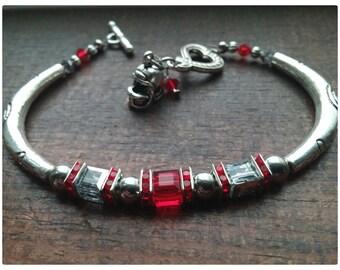Ohio State Buckeyes Inspired  Swarovski Crystal Bracelet