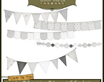 Banner Day - A Black Tie Affair Paper Piecing Clipart Elements for Invitations, Card Design, Digital Scrapbooking - Instant Download