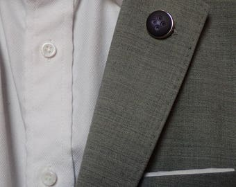 Men's Reversible Button Lapel Accessory