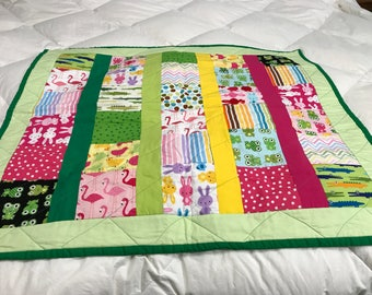 Gender Neutral Baby Quilt, Baby Play Quilt, Gender Neutral Blanket, Gender Neutral Quilt, Unique Baby Shower Gift,Baby Snuggle Blanket, OOAK