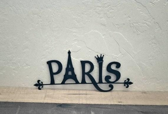 Paris Metall Wand Kunst Paris Dekor Paris Zubehör Schlafzimmer Dekor Paris  Mädchen Badezimmer Dekor Eiffelturm Paris Geschenk Küche Dekor Buchstaben