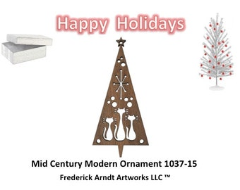 1037-15 Mid Century Modern Christmas Ornament