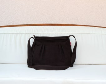 Dark Brown Bag Small and Sweety Canvas Purse Daily Use Bag Pleated Bag Washable Women Accessories Different Colors Available from hippirhino