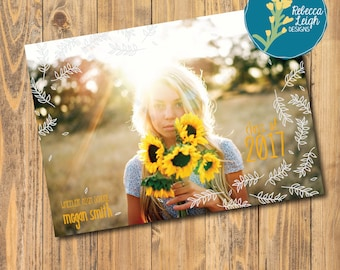 5x7 Custom Graduation Announcement | Senior Graduation Announcement | Print Advertisement