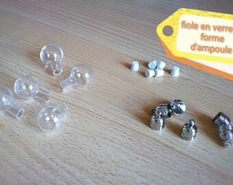 Bulb shaped glass vial