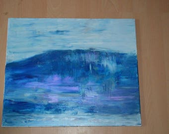Tsunami knife on canvas oil painting