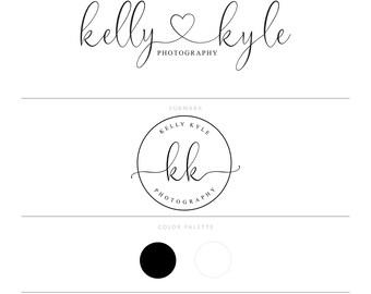 Heart Logo Design Photography Logo Branding Package Watermark Lash Logo Microblading Logo Doula Logo Makeup Artist Logo Blog Logo Realtor