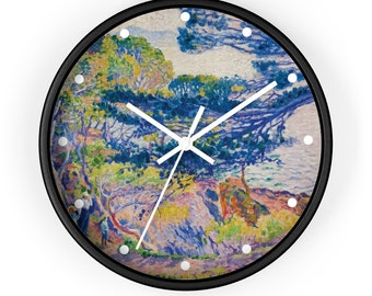 Kap Layet by Henri-Edmond Cross, Art Print Wall Clock