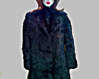 Luxurious  Rex Rabbit Fur Coat,  1980's SOLD SOLD , do not buy.