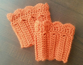 Pumpkin Crochet Boot Cuffs