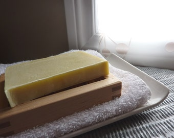 Looking Good Naked - pure simple unscented handmade soap plus beautiful postcard