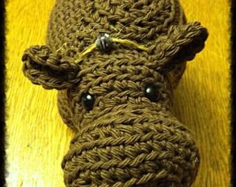 Handmade Crochet Amigurumi Hippo