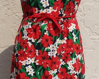 Vintage Sleeveless Floral Print Dress by Meadowbank
