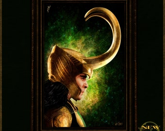 """Avengers Inspired, """"Loki"""" Artist Proof Signed and Limited Art Print by Herofied"""