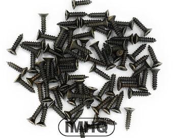 8mm Small self tapping phillips cross head metal screws, bronze finish