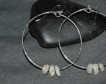 silver dangle hoop earrings sterling silver dangle hoops minimalist earrings drop hoop earrings silver hoop earrings simple hoops