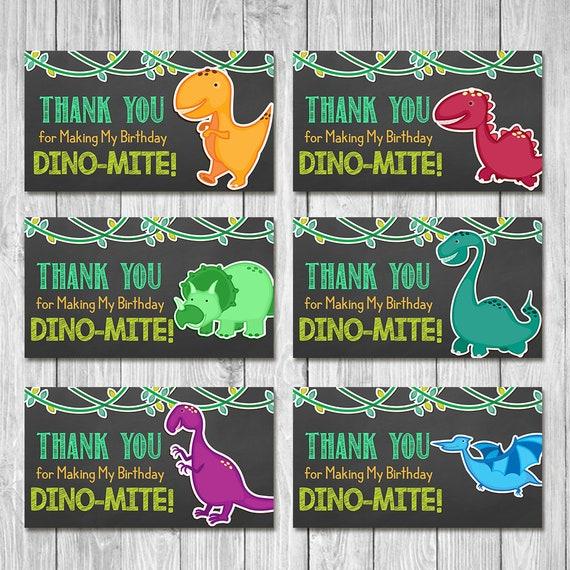 Dinosaur Birthday Party Tags Chalkboard | Dinosaur Birthday Party Favor Tags | Dinosaur Gift Tags | Dinosaur 1st Birthday Thank You Tags