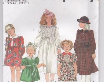 ON SALE 1990's Sewing Pattern - Simplicity 9160 Girls dress, Size 5-6X, Uncut, Factory Folded