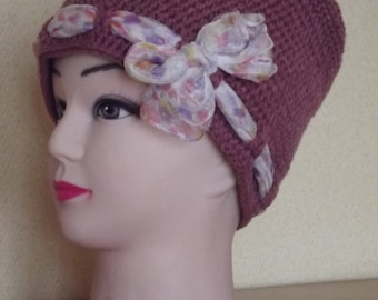 old Pink Hat and scarf