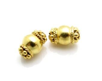 1 Pc, 10mm, 24K Gold Vermeil Bead