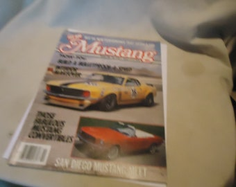 Vintage Spring 1985 Hot Rod Mustang  Magazine Volume 3 Number 1, collectable