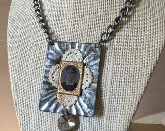 Miss Claire Repurposed Art Necklace