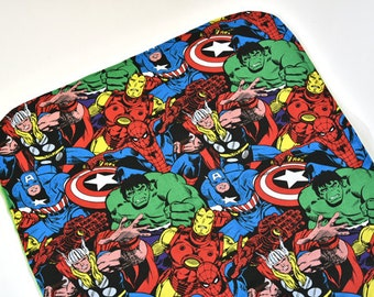 Marvel Baby Security Blanket Baby Items Mini Baby Blanket Changing Mat Super Hero Lovey Baby Shower Gift Ideas, Made From Marvel Fabric