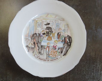 "Plate Kanterbrau ""Le Kugelhof du Dimanche"" - Porcelain of Limoges - The 60's"