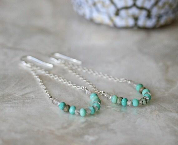 Summer Swing Earrings in Chrysoprase Zircon and Sterling Silver