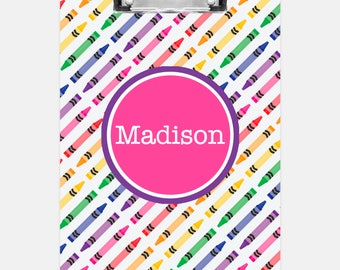 Crayons Clipboard | Personalized Clipboard | Teacher Clipboard | School Clipboard