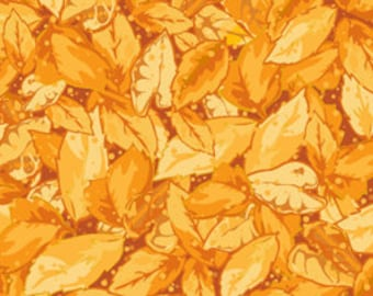Autumn Harvest by Quilting Treasures-Gold Leaves 21310-S