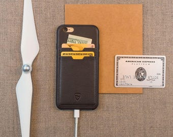 iPhone 6/ (Plus) SOHO Bumper Case - Premium Leather with TWO Pockets