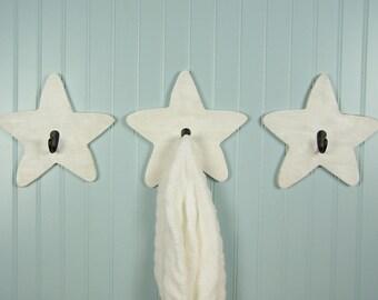 Star Hooks Wood Wall Hooks Decorative Wall Hooks for Kids Room Decor Bathroom Towel Hooks Wooden Stars Nursery Decor Wood Stars Decorations