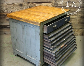 Etsy your place to buy and sell all things handmade antique 11 drawer hamilton flat file printers cabinet malvernweather Gallery