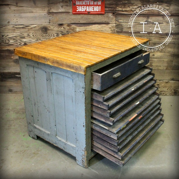 Antique 11 drawer hamilton flat file printers cabinet malvernweather Image collections