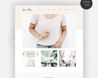 Feminine Wordpress Theme for Bloggers | Genesis Child Theme | eCommerce | Portfolio - Grazie