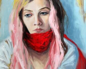 "Original Oil Painting//""Sawyer""//16""x20"""