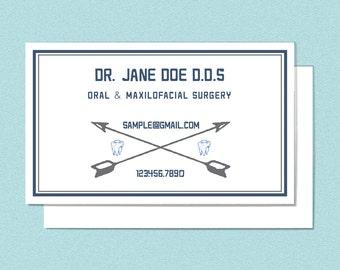 Printable Dental Arrow Business Card