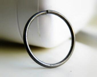 Black Nose Ring - Black Body Piercing - Black Nose Hoop - Lip Ring Hoop