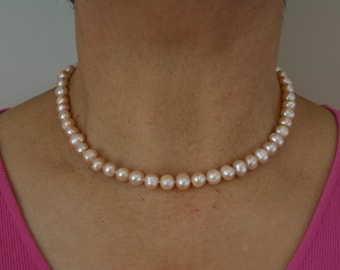 Light Pink (Blush) Pearl Necklace