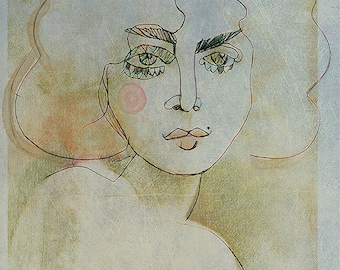 Illustrated art print, Woman in Love