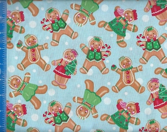 Holiday Gingerbread Kids, Fabric Quilting Crafting Home Decor