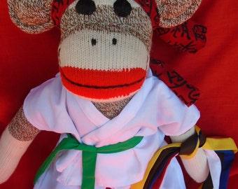 The Karate Kid Sock Monkey Doll