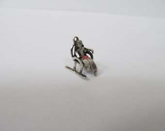 Vintage Silver Woman in a Rocking Chair Charm W #521