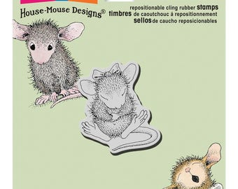 Stampendous!  Cling Stamp House-Mouse Sitting Pretty