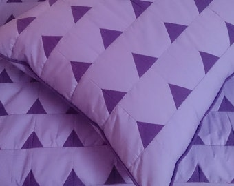 Best Is Yet To Come-Homemade Quilt-Purple Quilt Queen-King Size quilt-Bedroom Decor-Master Bedroom Decor-King size Quilted Coverlets