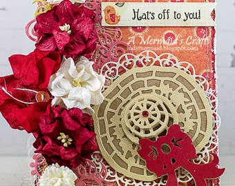 Handmade Hats Off To You Greeting Card