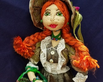 "Anne Shirley - ""Anne of Green Gables"" . Doll inspired on book-series by Lucy Maud Montgomery"